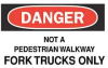 Danger Sign,7 x 10In,R and BK/WHT,ENG -- 5GJ38