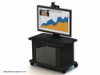 Video Furniture Int'l Package A - Single Monitor Mount and Monitor Cart for 32