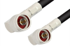 N Male Right Angle to N Male Right Angle Cable 36 Inch Length Using RG214 Coax, RoHS -- PE3781LF-36 -Image