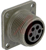 connector,metal circ,box mount recept,no bkshl,size 14s,6 #16 solder socket cont -- 70143519