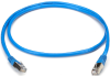 CAT5 Shielded Twisted-Pair Cable (STP) with Molded Boots, T568B, 4-Pair, RJ-45, Solid, Plenum-Rated, NEC CMP, Blue, 15-ft. (4.5-m) -- EVNSL171BL-0015