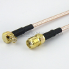 SMA Female to RA MCX Plug Cable RG-316 Coax in 12 Inch and RoHS -- FMC1317315LF-12 -Image