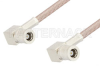 75 Ohm Mini SMB Plug Right Angle to 75 Ohm Mini SMB Plug Right Angle Cable 48 Inch Length Using 75 Ohm RG179 Coax -- PE34694-48 -Image