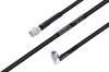 MIL-DTL-17 SMA Male to SMA Male Right Angle Cable 72 Inch Length Using M17/28-RG58 Coax -- PE3M0120-72 -Image