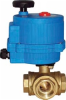 """BRASS 3-WAY 1/2"""" NPTF ELECTRIC ACTUATED 365N BALL VALVE-120/60 VOLT AC -- B3LE04-0-6"""