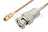 BNC Male to SSMC Plug Cable 24 Inch Length Using RG178 Coax -- PE3C4397-24 -Image