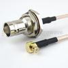 RA MCX Plug to BNC Female Bulkhead Cable RG316 Coax in 36 Inch -- FMC1738316-36 -Image