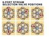Polymer 6-Way Selection Valve -- V-340
