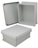 12x10x5 Inch UL® Listed Weatherproof Industrial NEMA 4X Enclosure Only with Corner Screws -- NBC121005 -Image