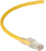 15FT Yellow CAT6A 650MHz Patch Cable F/UTP CM Locking Snagless -- C6APC80S-YL-15 - Image