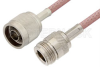 N Male to N Female Cable 72 Inch Length Using RG142 Coax -- PE3996-72 -Image