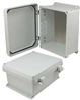 10x8x5 Inch UL® Listed Weatherproof NEMA 4X Enclosure w/Aluminum Mounting Plate, Non-Metallic Hinges -- NBN100805-KIT -Image