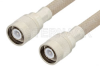 SC Male to SC Male Cable 12 Inch Length Using RG225 Coax , LF Solder -- PE34447LF-12 -Image