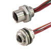 Dual Key Shielded to Coupler Micro-Link Receptacle, Female, 3 pole, 1' -- 203S0010P9 - Image