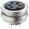connector,circular din,female recept w/pcb pins,front mount,8 contact,ip40 -- 70151358