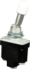 MICRO SWITCH TL Series Toggle Switch, Single Pole Double Throw (SPDT) 2 Position (On - On), Screw Terminals, Locking Lever (Locked Out Of Center Position) With White Button Cap, FAA-PMA Approved -- 1TL150-3D