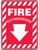 Fire Extinguisher Sign with Arrow -- SGN632 -Image