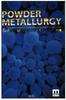Powder Metallurgy & Particulate Materials Processing -- 0976205718