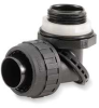 90 Deg Connector,1 In,Nylon,Black -- 6D111 - Image