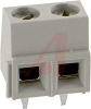 Connector, Terminal Block; Wire Receptacle; 2 Pos.; 16-30 AWG; 0.197 in. CL; Sid -- 70086275 - Image