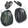 Cap-Mounted Ear Muff,24dB,Dark Green -- 3NZF3
