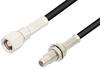 SMC Plug to SMC Jack Bulkhead Cable 24 Inch Length Using PE-B100 Coax -- PE34509-24 -Image