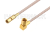 SSMC Plug to SSMC Plug Right Angle Cable 48 Inch Length Using RG316 Coax -- PE3C4404-48 -Image