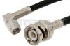 SMA Male Right Angle to BNC Male Cable 24 Inch Length Using PE-C195 Coax -- PE38093-24 -Image