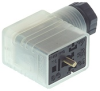 GMNL DIN Standard Field Attachable Connector: Form B, 3-pin (2+1PE), UL 1977, translucent housing with black cable gland, screw type, PG9; with bridge rectifier, varistor and red LED, 24 V AC/DC, 1 A -- GMNL 209 NJ GB1 LED 24 black