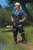 Chest Waders,Steel Toe,Mens,12,Black,1PR -- 9X164