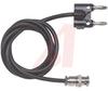 Banana Plug; Male to Multi-Stacking Double Banana Plug; Nickel Plated Brass -- 70197901