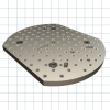 Subplates For Mounting On Machine Table -- 650 x 500mm Round with Flats