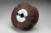 3M 241E Coated Aluminum Oxide Flap Wheel - 100 Grit - 1 in Face Width - 6 in Diameter - 1 in Center Hole - 35111 -- 051144-35111 - Image