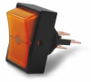 Illuminated Mini Rectangle Rocker Switch - Amber -- 80360