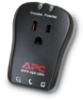 APC single outlet travel surge protector with phone line protection, 120V -- P1T