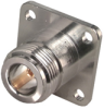 Coaxial Straight Panel Receptacle Jack, Flange Mount -- Type 23_N-50-0-69/133_NX - 22648797