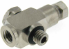 """1/16"""" OD Tubing Compression Fitting,T, 10-32 thread -- MCBT-16-10 -- View Larger Image"""