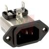 Filter, RFI, Power Line, Compact w/IEC socket, 120/250 Volt, 50-60Hz, 6 Amp -- 70185568