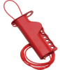 Multi-Use Cable Lockout Red Body and Cable Isoplast Lockout Body, Nylon Cable -- 75447350941-1