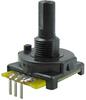 510 Series mechanical encoder, 2-bit: 4 cycles per revolution, 16 detents/revolution, PC type B-110 terminals -- 510E1A48F204PB