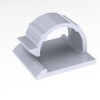 Wire Clip - Plastic, Adhesive Mount -- WCK-720-01A-RT -- View Larger Image