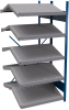 B-to-back open shelving, sloped shelves (add-on unit for series) -- SRA1T-EE751001B - Image
