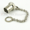 BNC Female Open Circuit Connector Cap with 3 Inch Chain -- SC2004 -Image