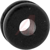 Grommet, Round; 1/4 in.; Black Buna-S Synthetic Rubber/Black Polyvinyl Chloride -- 70209843