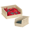 "10 7/8"" x 5 1/2"" x 5"" Ivory - Plastic Stack & Hang Bin Boxes -- BINP1155V -- View Larger Image"