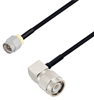 SMA Male to TNC Male Right Angle Cable Assembly using LC085TBJ Coax, 1 FT -- LCCA30621-FT1 -Image