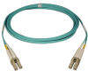 10Gb Duplex Multimode 50/125 OM3 LSZH Fiber Patch Cable, (LC/LC) - Aqua, 7M (23-ft.) -- N820-07M - Image