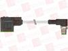 MURR ELEKTRONIK 7000-41061-6160030 ( M12 MALE 90° / MSUD VALVE PLUG FORM CI 9.4 MM, PVC 3X0.75 BLACK 0.3M ) -Image