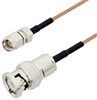 SMA Male to BNC Male Cable Assembly using RG178 Coax, 1 FT -- LCCA30070-FT1 -Image