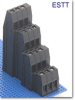 4-Tier Fixed Terminal Block -- ESTT Tall Tower Series -- View Larger Image